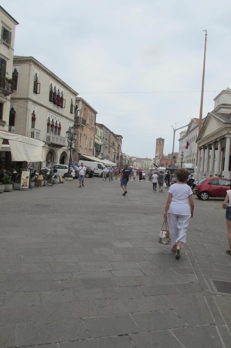 pěší zóna v Chioggia